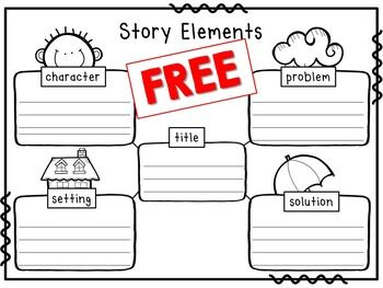 Story Elements Worksheet- title, character, setting, problem ...