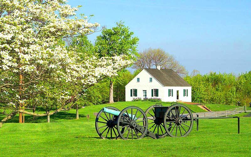 paisajes bonitos de primavera verde rural casa | Estaciones del año ...