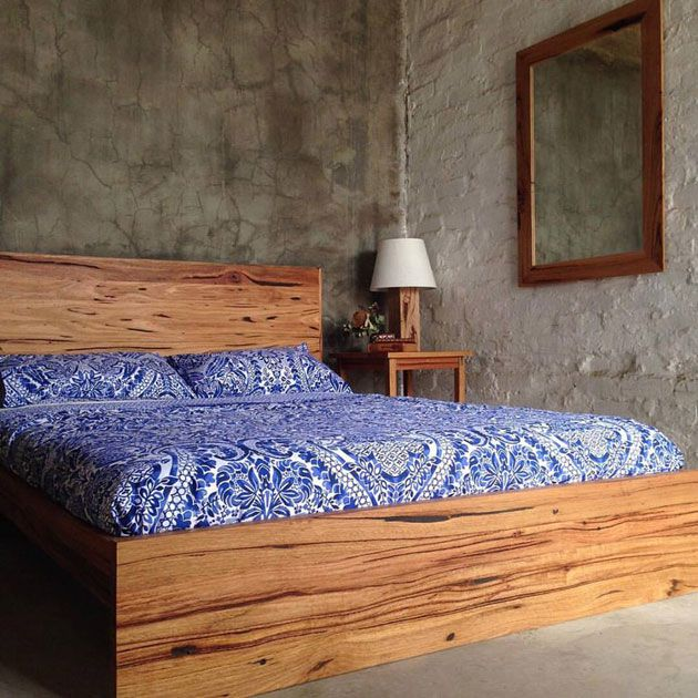 Recycled timber bed by Retrograde Furniture  Melbourne. Recycled timber bed by Retrograde Furniture  Melbourne   Upcycled