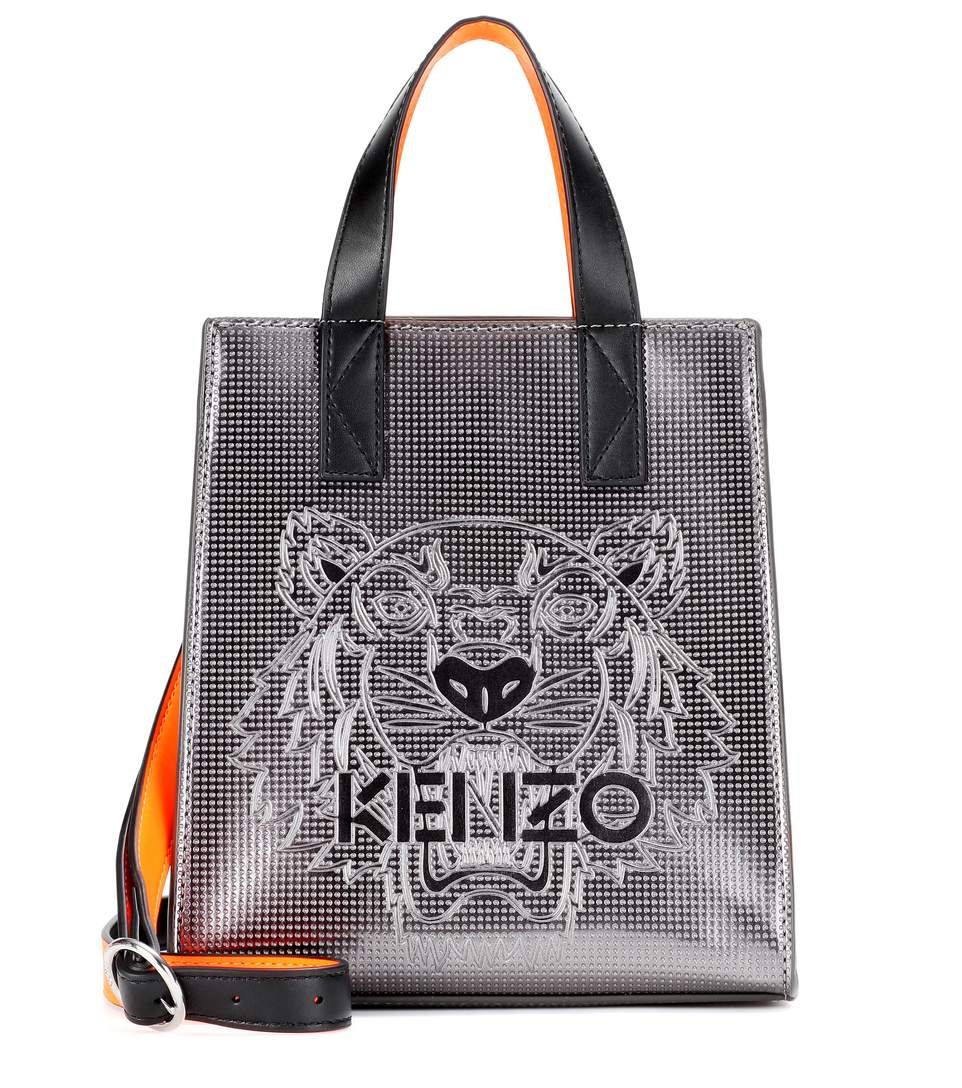 8ddf4f169fa KENZO Mini Tiger Embossed Tote. #kenzo #bags #shoulder bags #hand bags # leather #tote #lining #