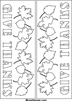 Letter art subway art Give Thanks coloring craft sheet
