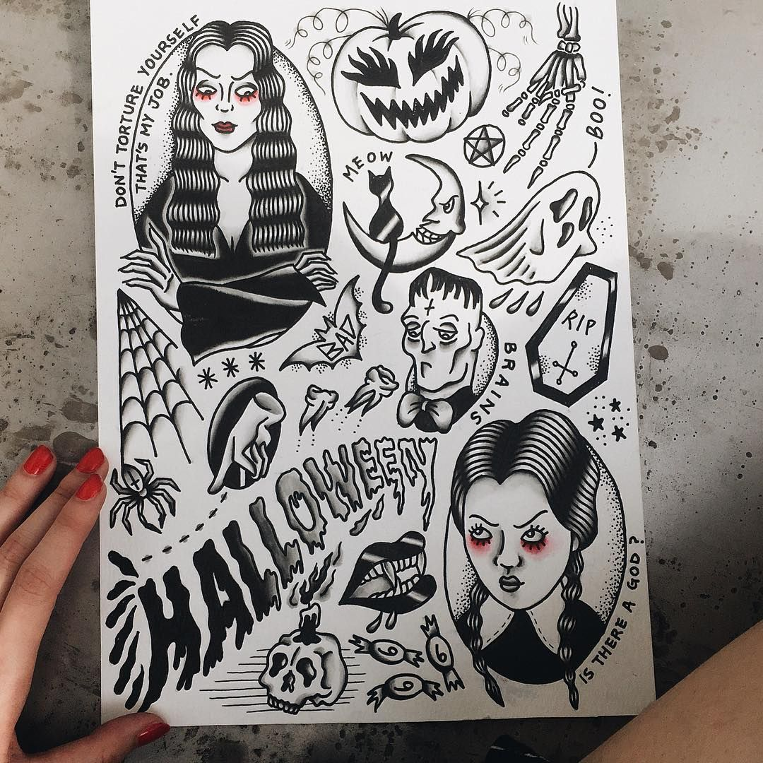 Pin On Wednesday Addams Tattoo