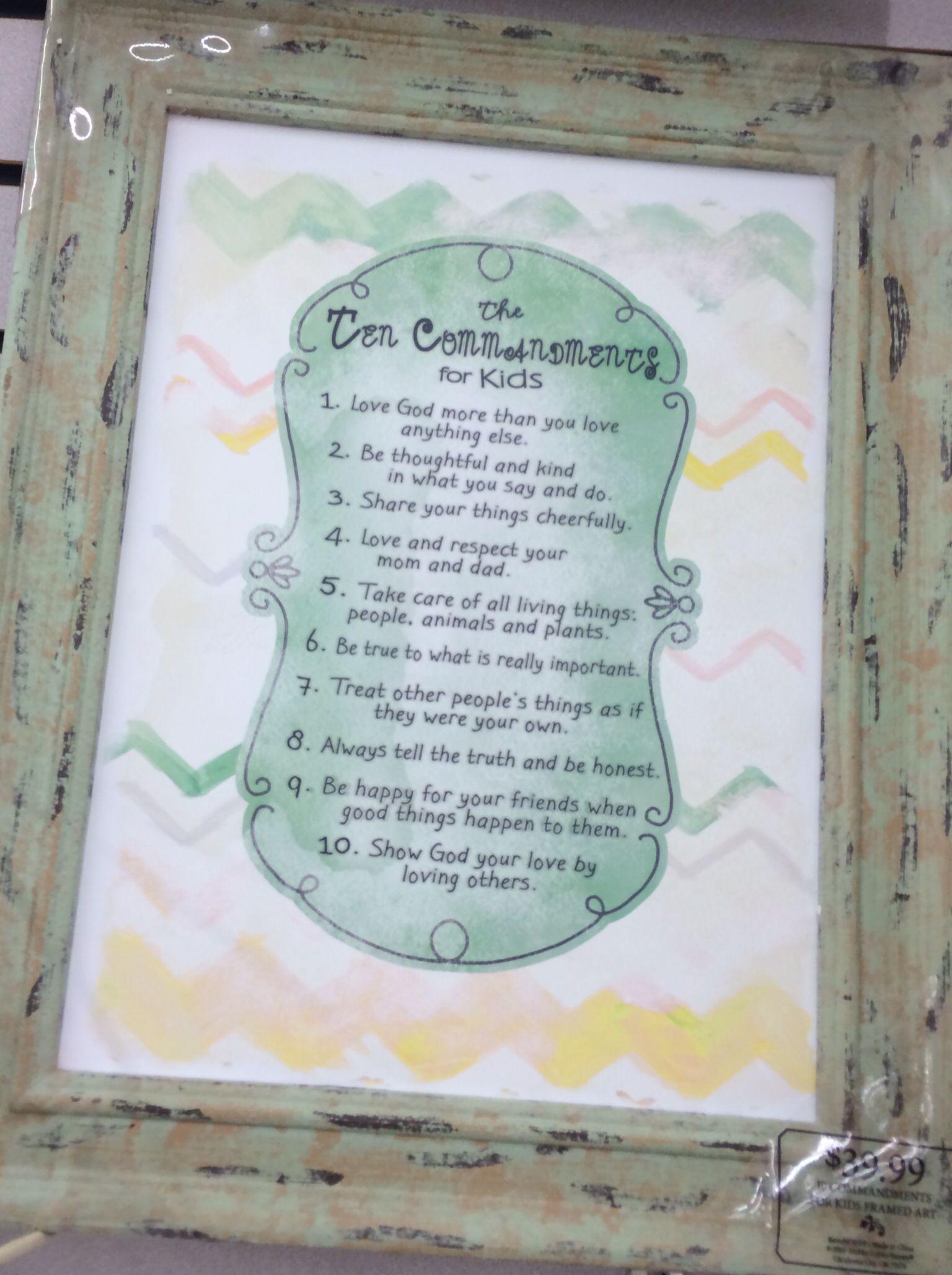 Kid S Ten Commandments Hobby Lobby Kids Art Wall Frames Art Wall Kids Art Hobbies