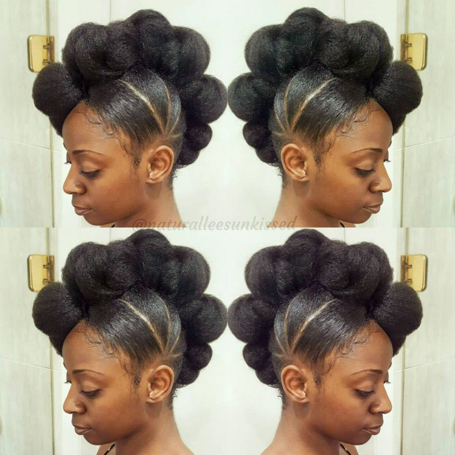 updo hairstyle #10: natural mohawk updo hairstyle | hair