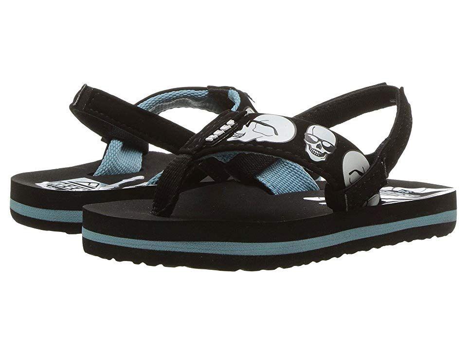 7589b1572f23 Reef Kids Ahi Color Change (Infant Toddler Little Kid Big Kid) Boys Shoes  Blue Skulls