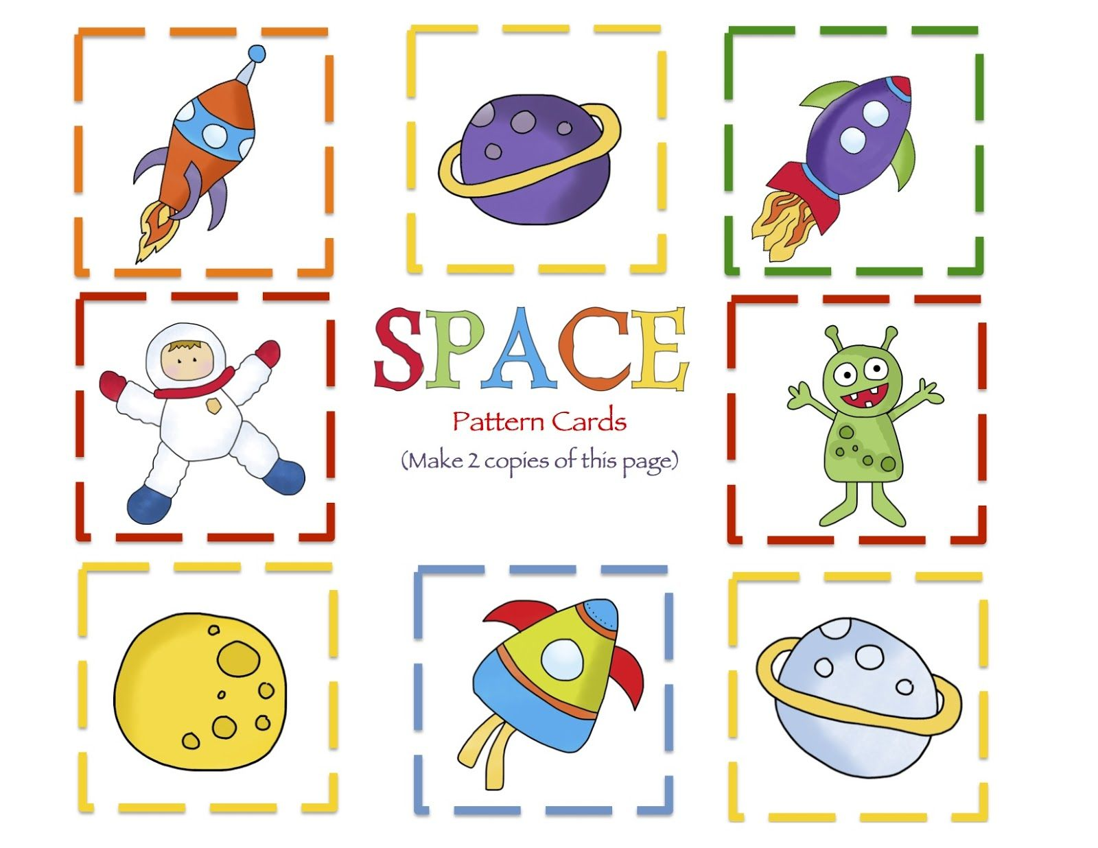 Preschool Printables Space