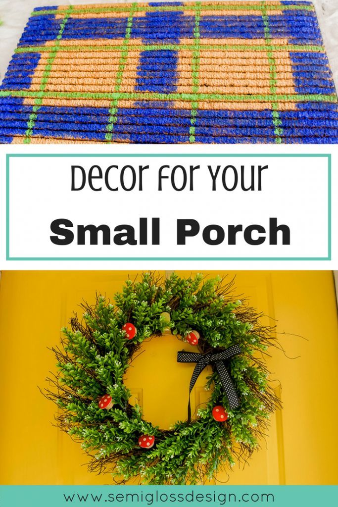 Small Porch Decor to Add Curb Appeal #smallporchdecorating