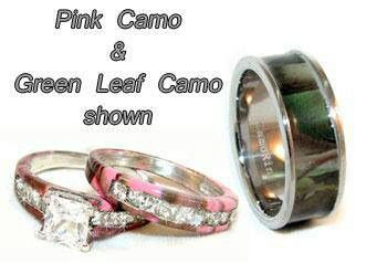 our rings camo his hers wedding ring set - Camouflage Wedding Ring Sets