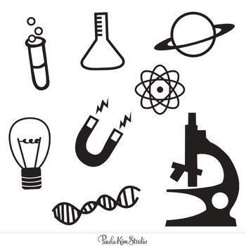 Simple And Bold Science Icon Clip Art Freebie