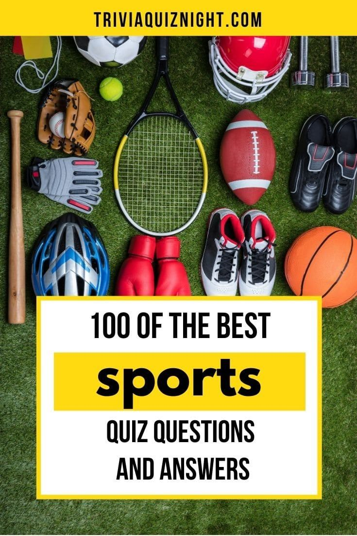 100 of the best sports quiz questions and answers for your