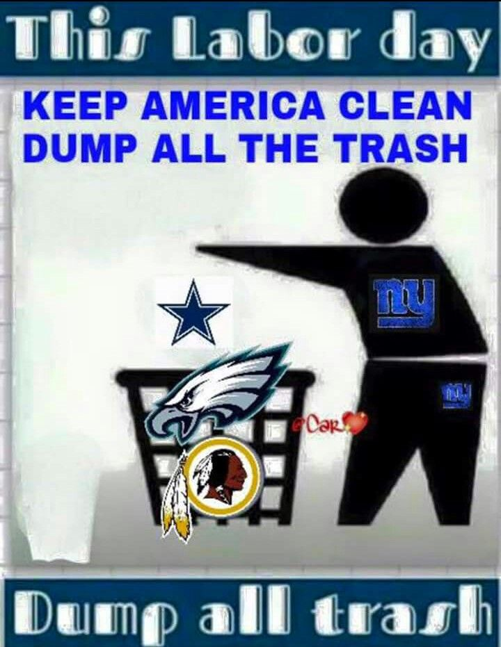 New York Taking Out The Trash New York Giants Football