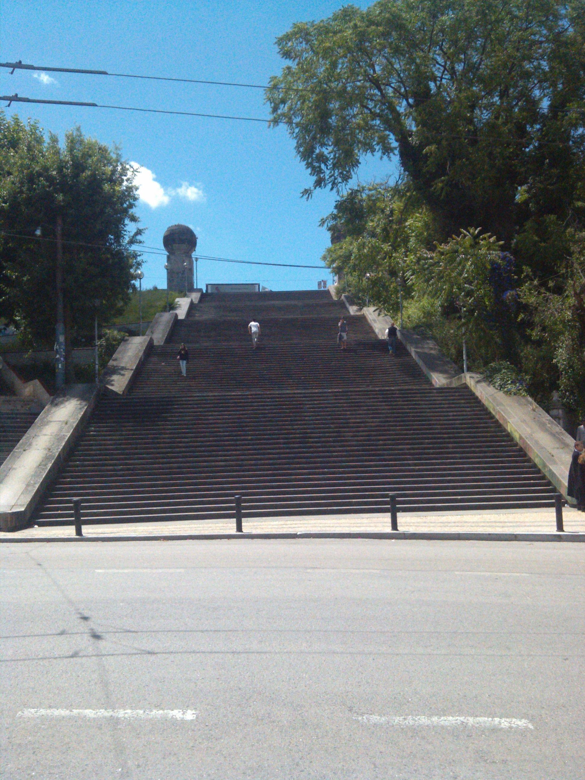 Escadas monumentais de #Coimbra..  es un monumento que llega a la Universidad