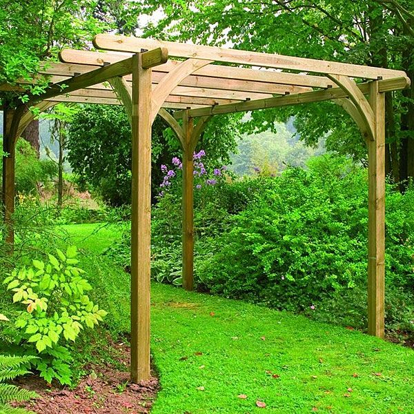 Outdoor Kitchen Kits For Sale: Forest Ultima 2.7m X 2.7m Pergola Kit