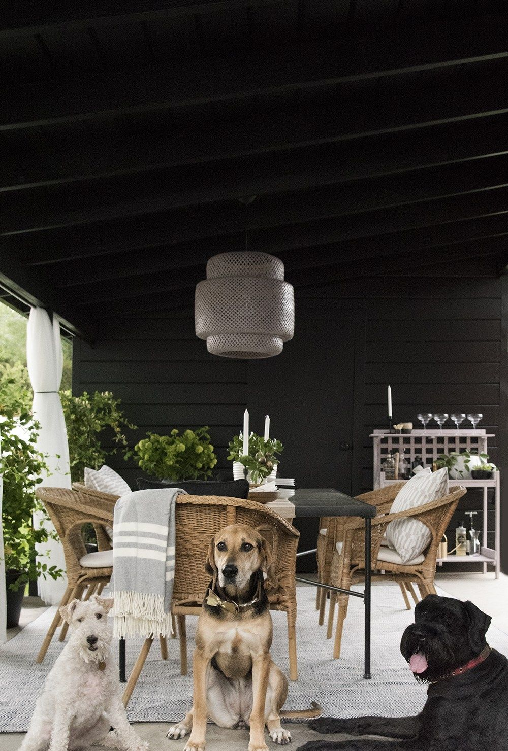 Outdoor Patio Dog Beds: Painted Carport Makeover - Room For Tuesday Blog