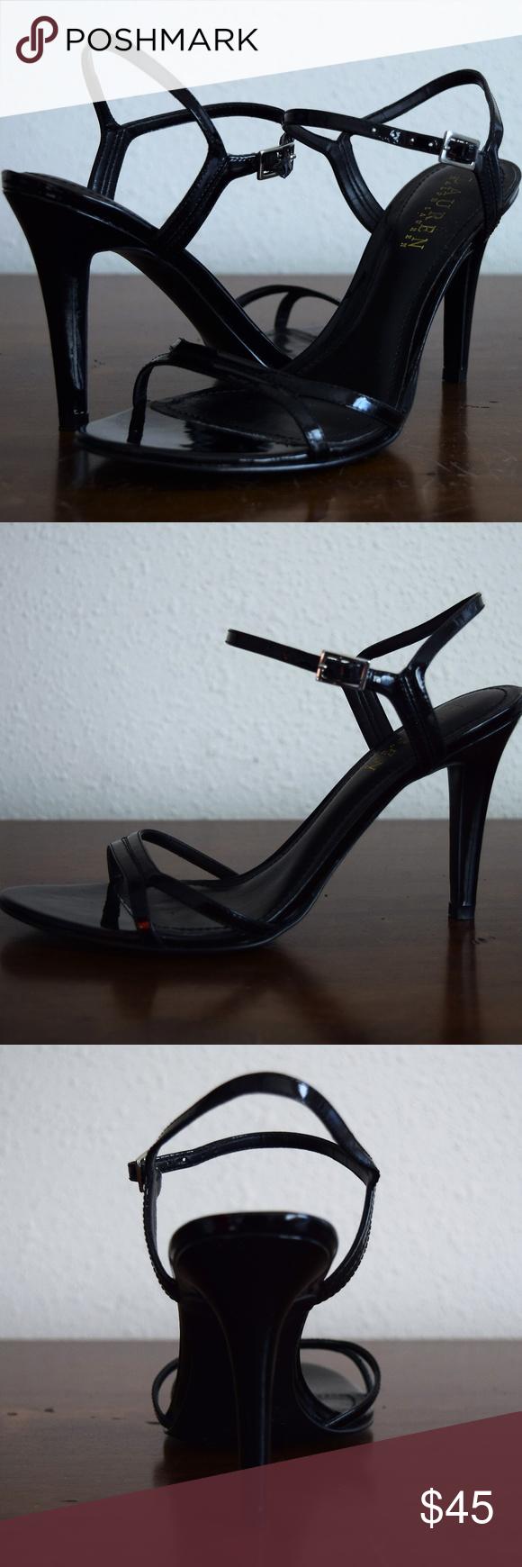 Heels, Strappy sandals, Ralph lauren shoes