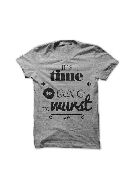 'It´s time to save the wurst', T-Shirt Herren von What about Tee auf DaWanda.com