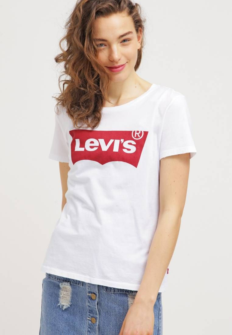 50a372e4 Levi's®. THE PERFECT - Print T-shirt - woodgrain batwing/white. Our model's  height:Our model is 69.5