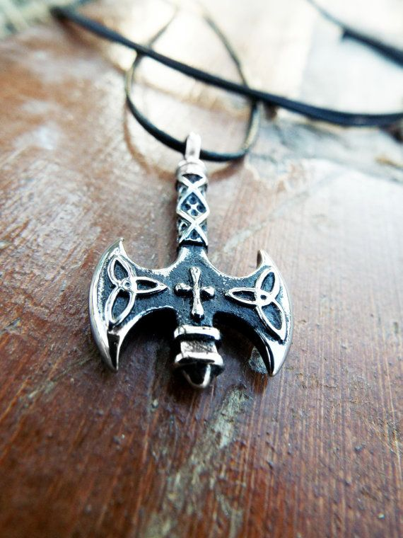 Labrys Pendant Axe Silver Double Axe Symbol Sterling 925 Triquetra