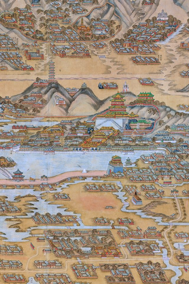 Chinese map wallpaper cartography history and medieval old chinese map of beijing turned into a retina resolution wallpaper gumiabroncs Images