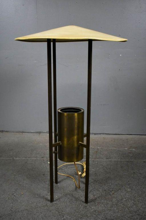Sensational Brass And Enameled Metal Floor Lamp 42H X 25Dia Condition Needs Wiring 101 Tzicihahutechinfo