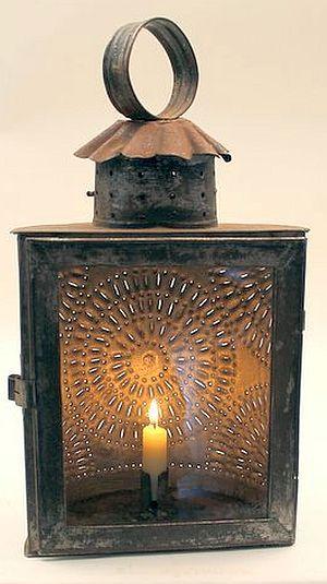 19th Century Half Round Punched Tin Lantern With Images Primitive Lighting 19th Century Lanterns Antique Lighting