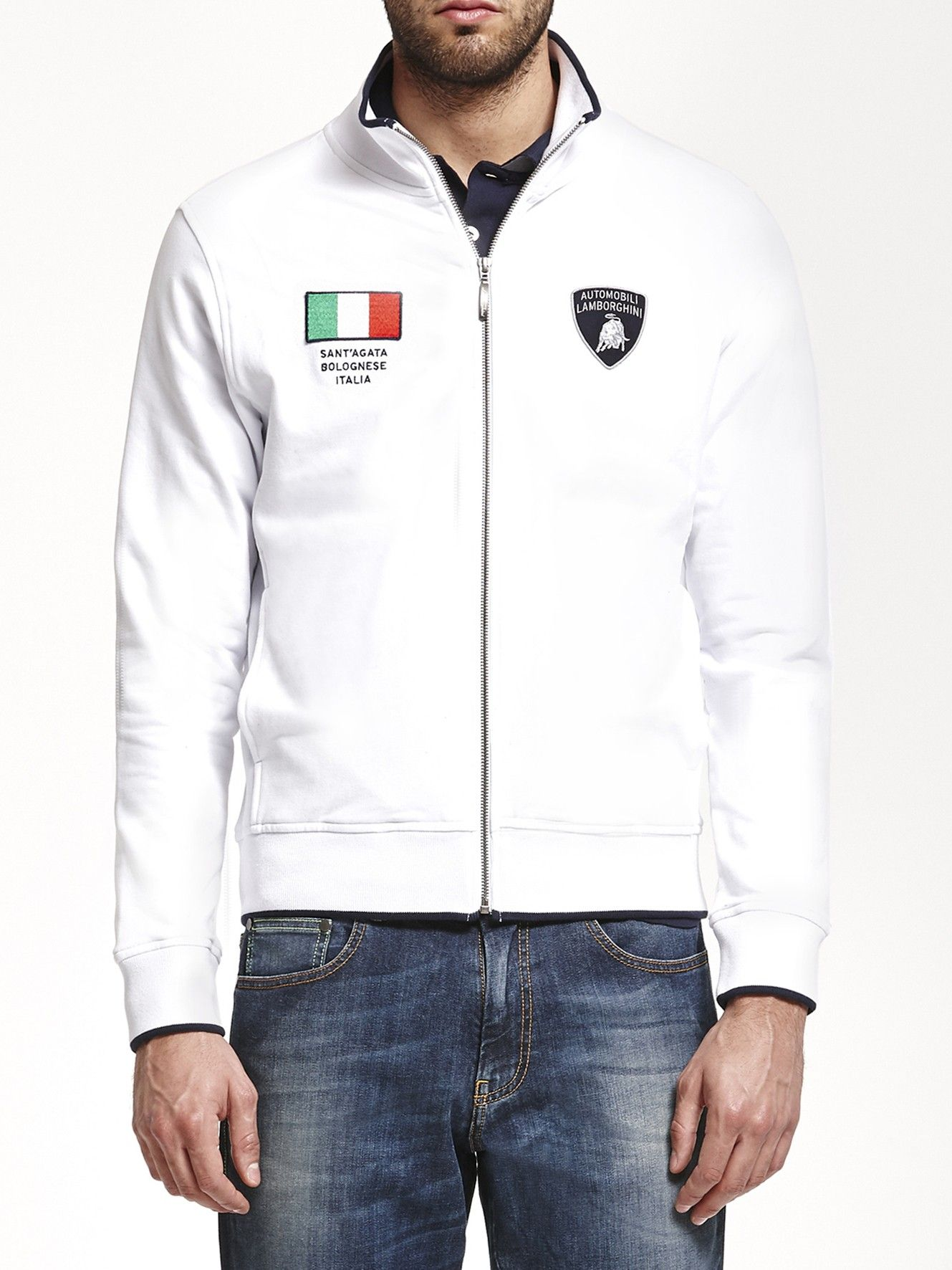8641dc79 Italian Flag sweatshirt optic white Collezione Automobili Lamborghini  Lamborghini Store: visit Lamborghini Official Online Shop