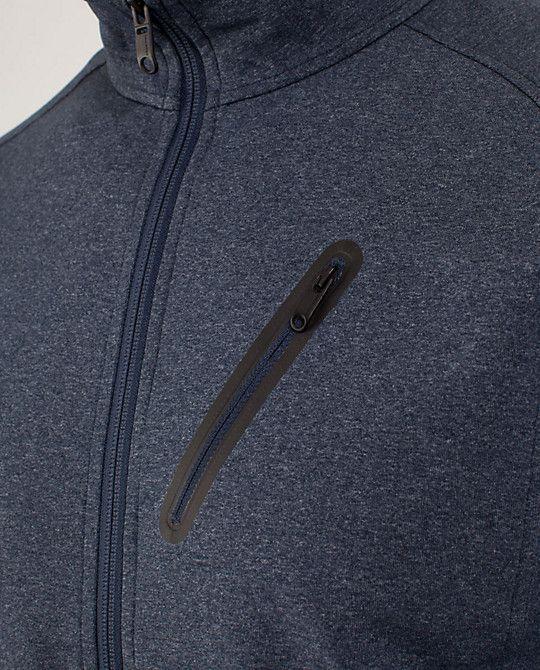 "lululemon's ""Trainer Jacket"" in Heathered Black Iris Blue. $128."