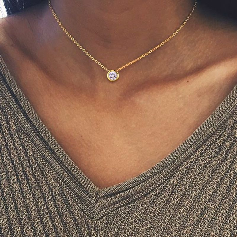 Tardoo Zircon 925 Sterling Silver Round Choker Necklace Geometry Luxury And Romantic Style Fine Jewelry For Women Price 22 3 Perhiasan Antik Gelang Aksesoris