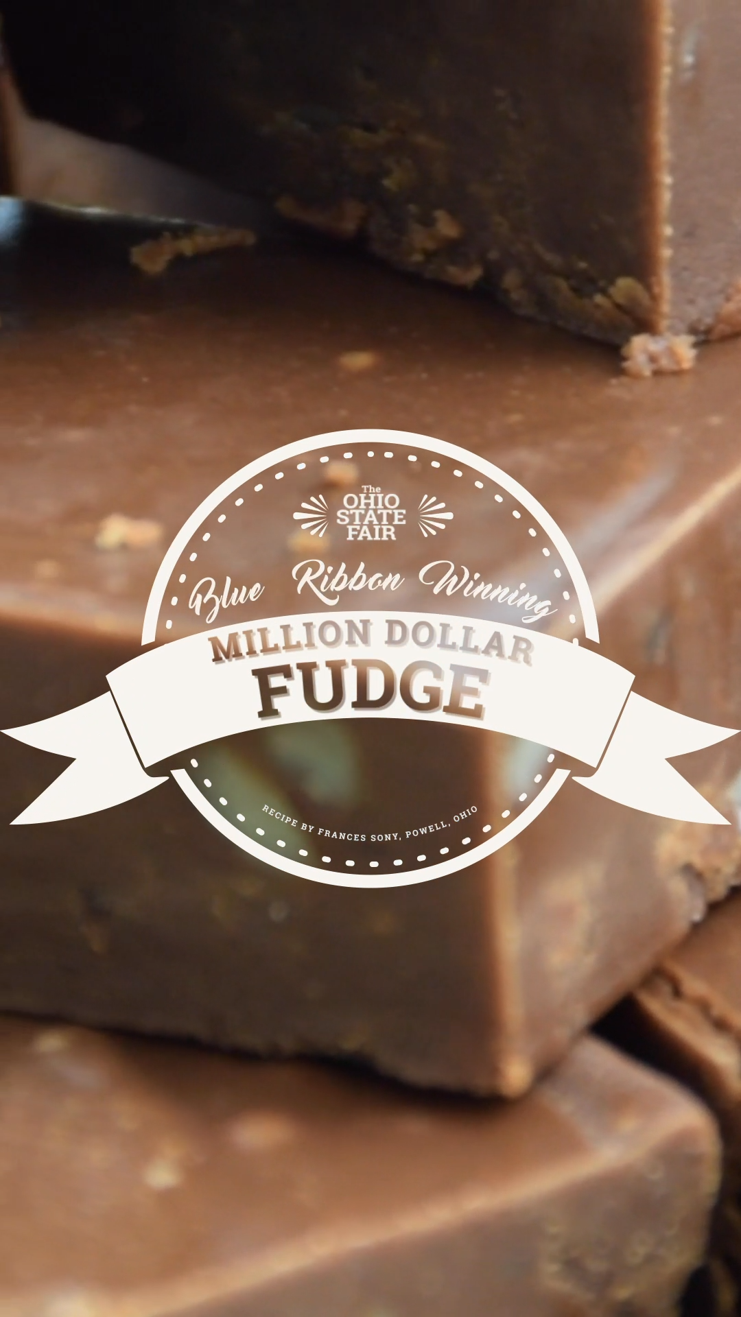 Try this melt-in-your mouth, award-winning fudge recipe at home! This delicious blue ribbon recipe by Frances Sony of Powell won first place in the candies and fudge division at the 2018 Ohio State Fair.