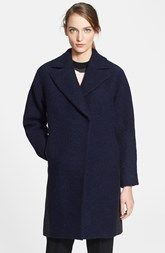 Cédric Charlier Contrast Back Textured Wool Coat