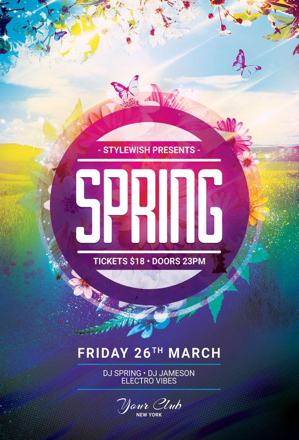 Spring Flyer  Flyer Template Template And Flyer Design Templates
