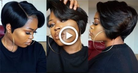 DIY| 27 Piece & A Lace Frontal Tapered Bob Wig #27piecehairstyles DIY| 27 Piece & A Lace Frontal Tapered Bob Wig #hairstyles #27piecehairstyles