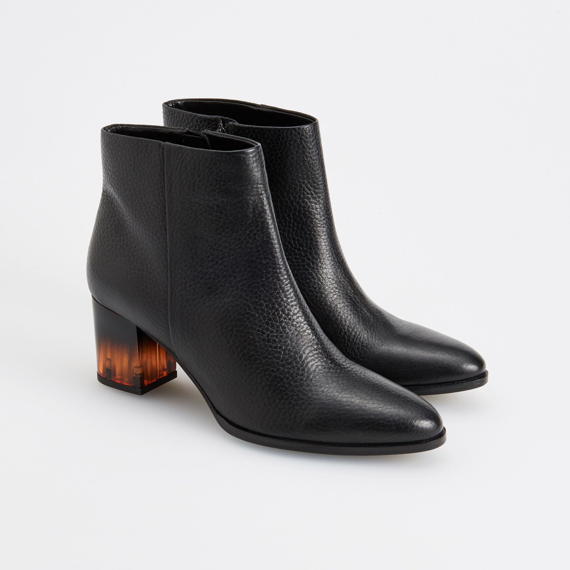 Skorzane Botki Reserved Leather Ankle Boots Boots Shoes