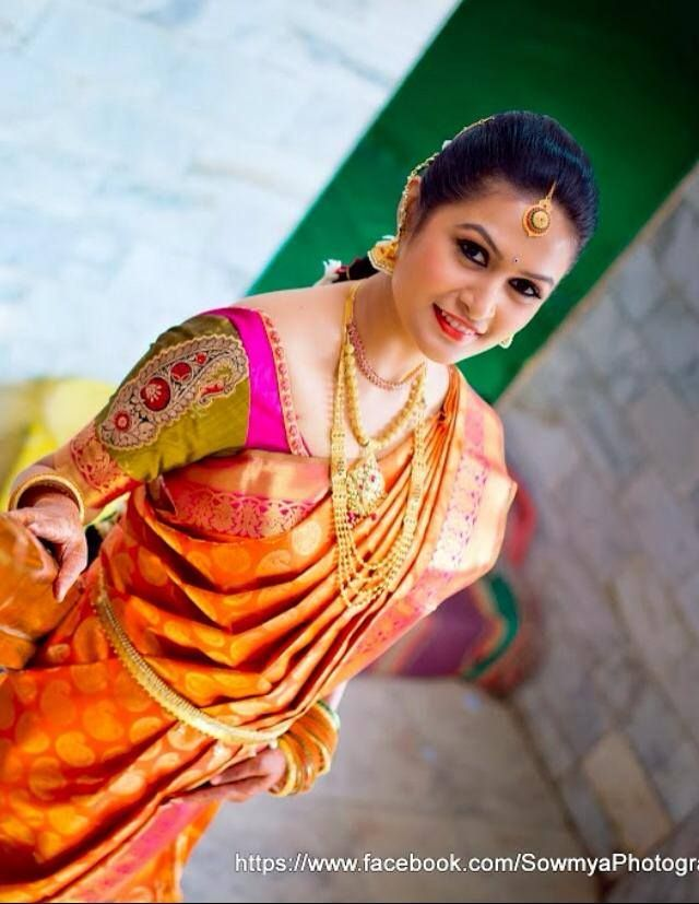 Traditional South Indian Bride Wearing Bridal Saree And Jewellery Muhurat Look Makeup By Swank