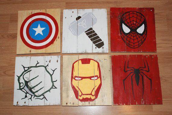 Superhero Marvel Comics Wood Pallet Sign Products Wood
