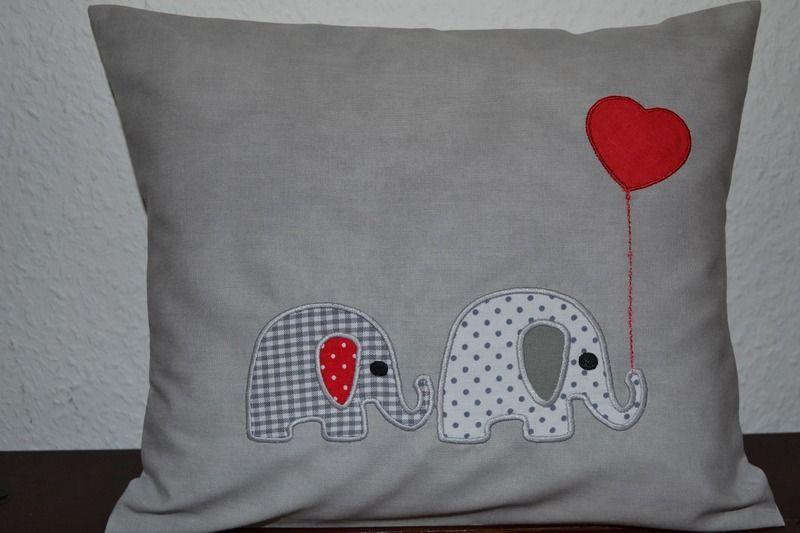 kissen namenskissen kuschelkissen elefant namenskissen. Black Bedroom Furniture Sets. Home Design Ideas