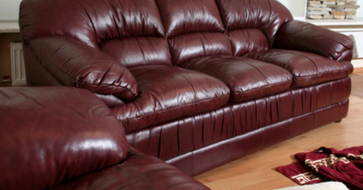 How To Re Cover A Leather Sofa Ehow Uk Burgundy Leather Sofa Cleaning Leather Couch Cleaning Leather Furniture