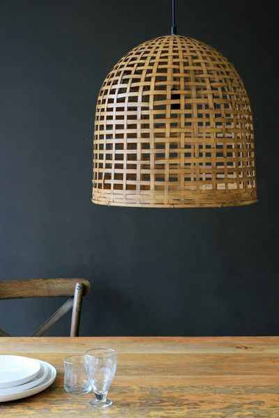 Abriana Bamboo Ceiling Light | GrillaBayside | Pinterest ...