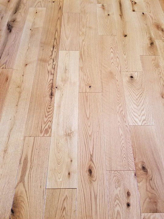 Rustic Red Oak With A 10 Sheen Natural