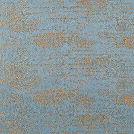 This is a cotton blend in premier blue with antique gold highlights.  Very soft and smooth, great for Upholstery.