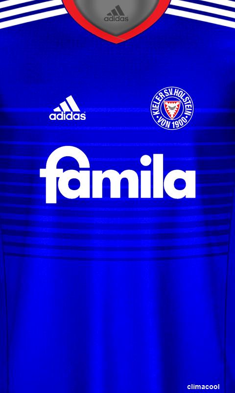 Holstein Kiel Camisas De Futebol Papel De Parede Adidas Futebol