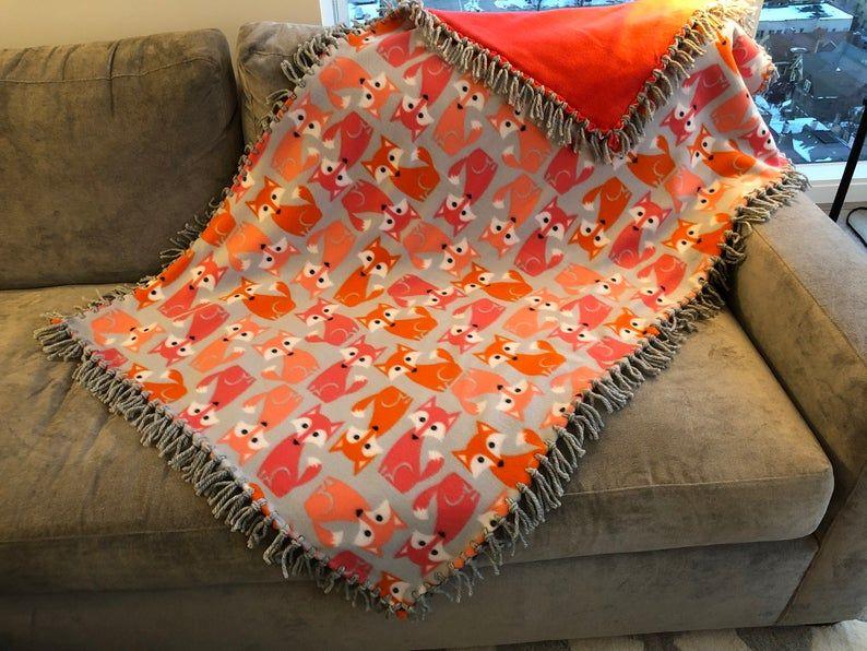 Foxy Baby! Blanket Bernat softee chunky yarn, Blanket