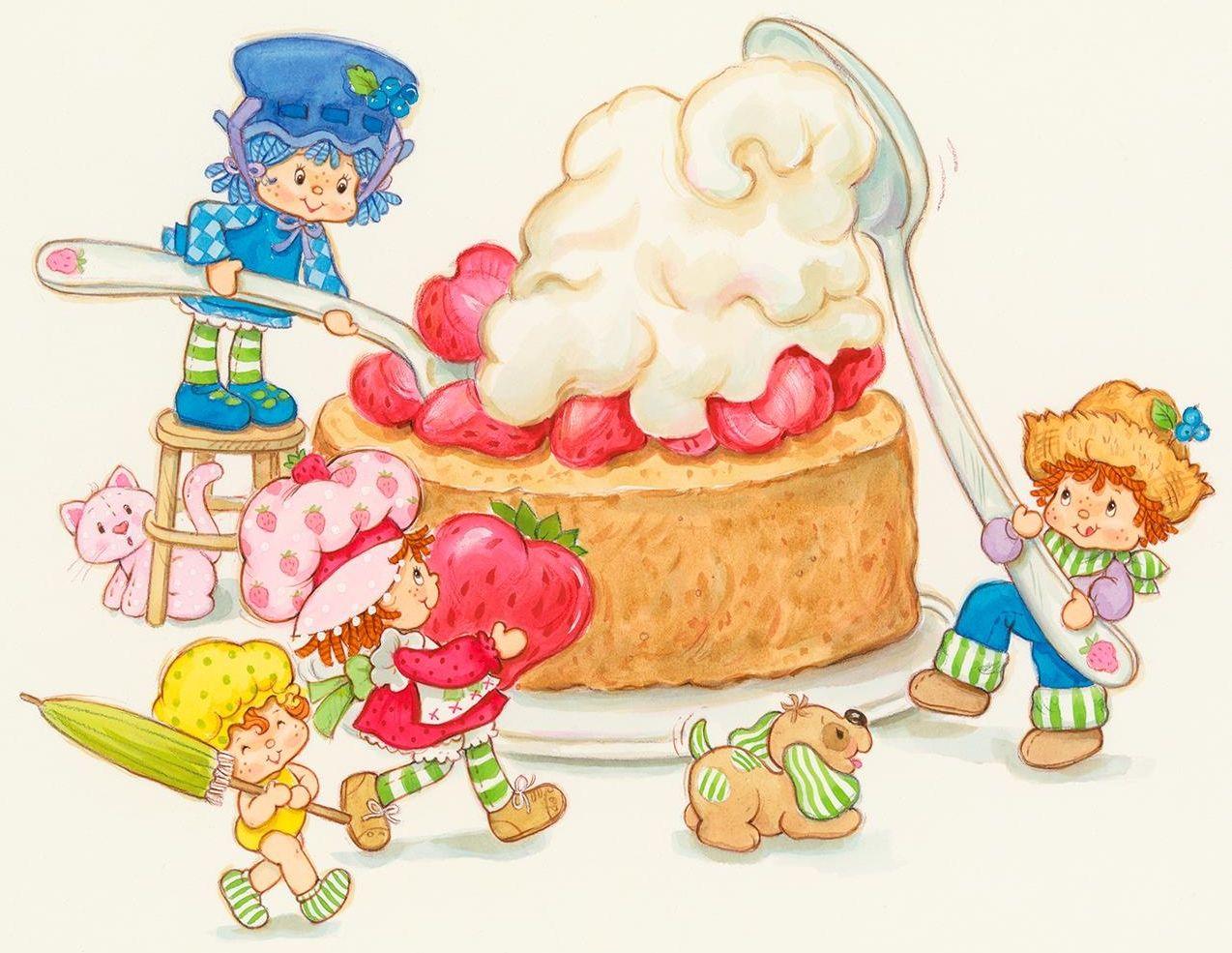 Vintage Strawberry Shortcake - Big Dessert   Rosita fresita ...