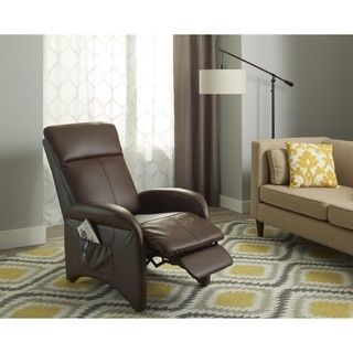 shop for simple living addin small reclining accent chair get free