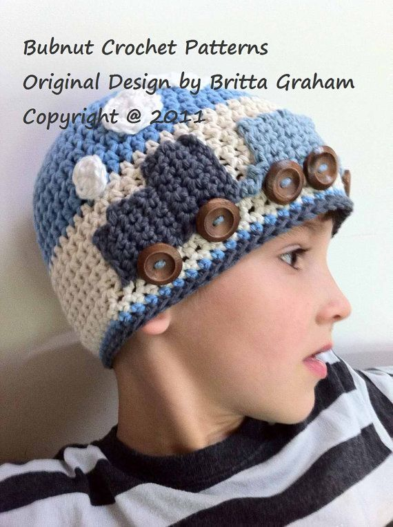 Easy Peasy Train Crochet Hat Pattern No.109 Emailed2U FOUR Sizes ...