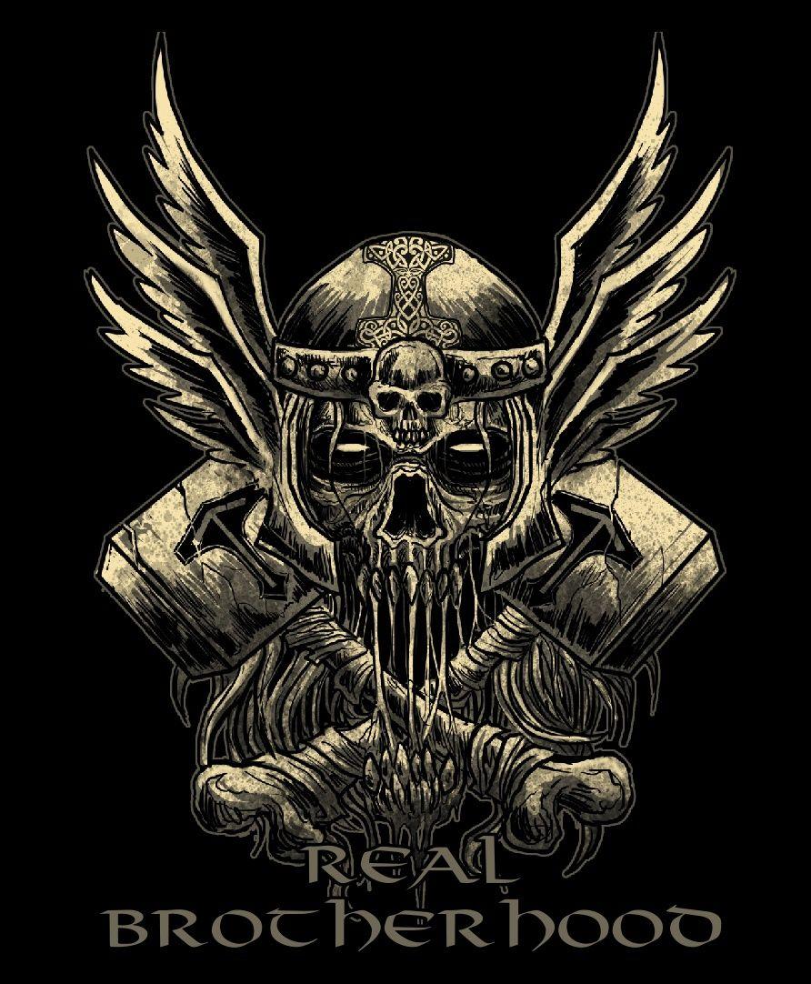Vikings Real Brotherhood Viking Skull Viking Tattoos Viking Art