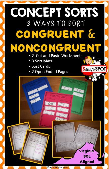 Virginia sol concept sort congruent noncongruent test prep