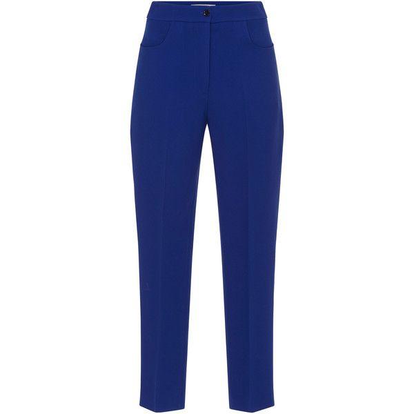 Blue Libi Cropped Trouser   Moda Operandi (10 560 UAH) via Polyvore featuring pants и capris