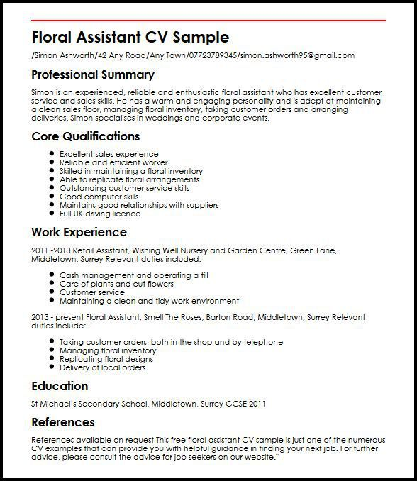 Resume Examples Uk Pinterest Resume examples - warehouse worker job description resume