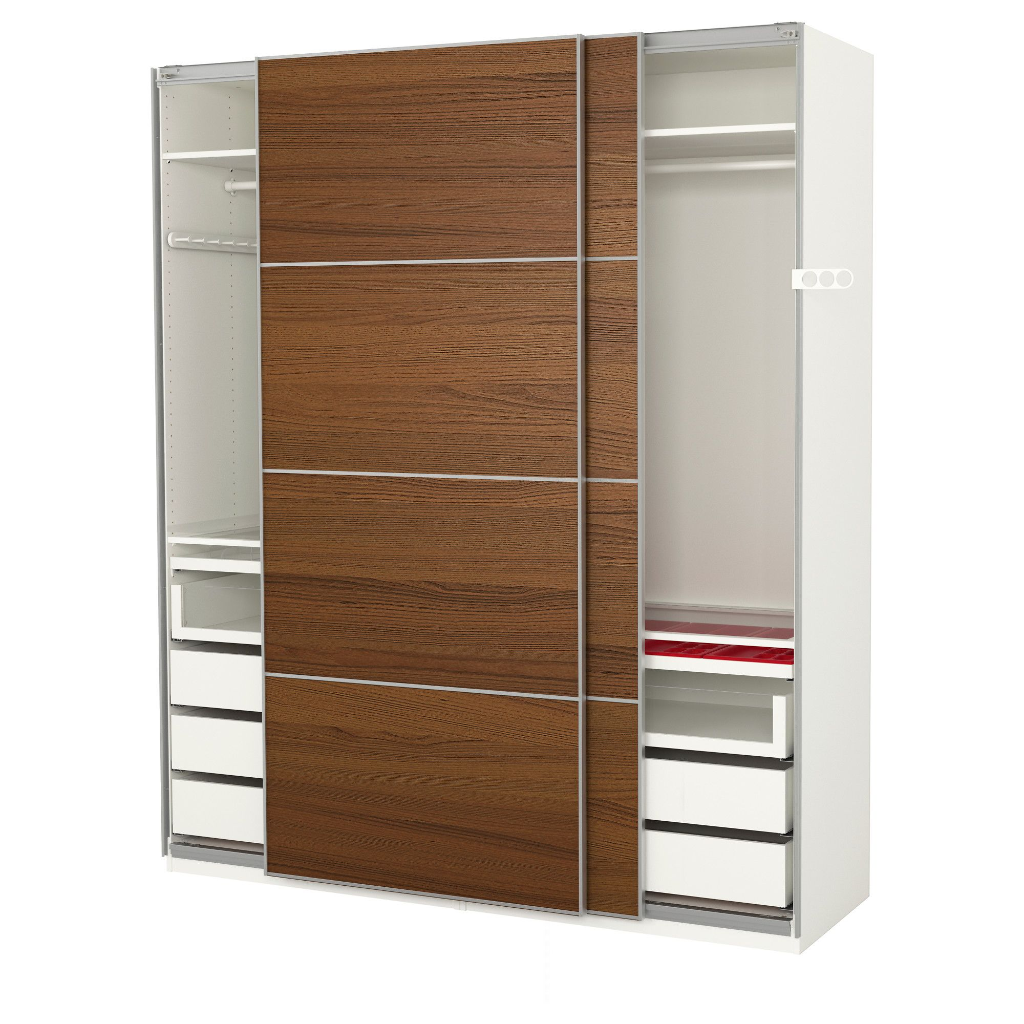 Armadio Pax Ebay Ikea Pax White Ilseng Brown Stained Ash Veneer Wardrobe In 2019
